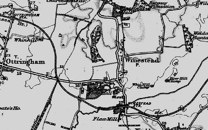Old map of Winestead Grange in 1895
