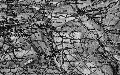 Old map of Winewall in 1898