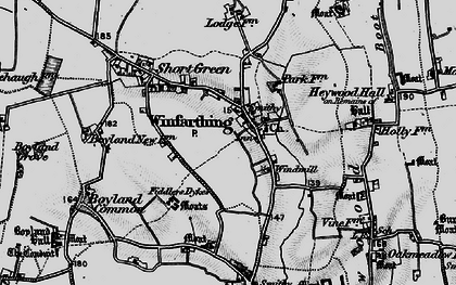 Old map of Winfarthing in 1898