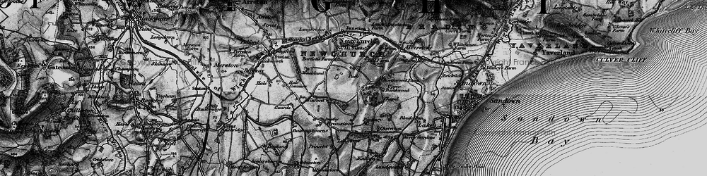 Old map of Winford in 1895