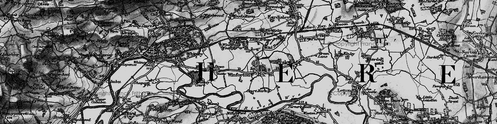 Old map of Winforton in 1896