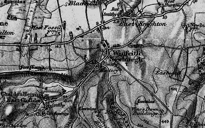 Old map of Marley Wood House in 1897
