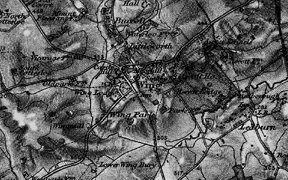 Old map of Ascott Ho in 1896