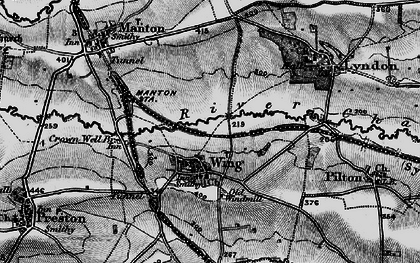 Old map of Wing in 1898