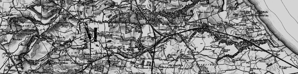 Old map of Wingate in 1898