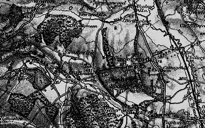 Old map of Wingerworth in 1896