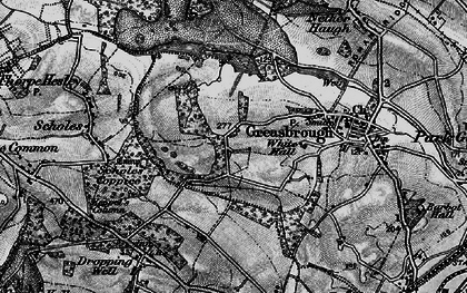Old map of Wingfield in 1896