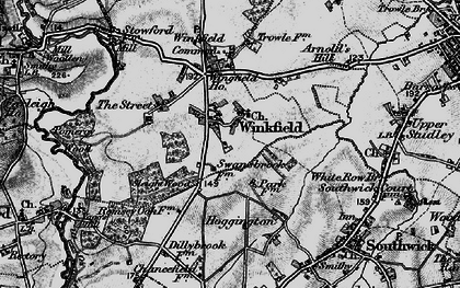 Old map of Wingfield in 1898