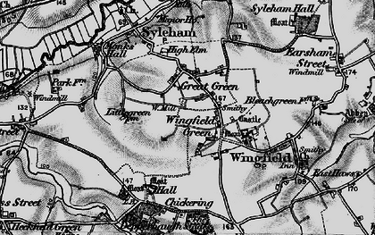 Old map of Wingfield Green in 1898