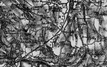 Old map of Wingfield Park in 1895