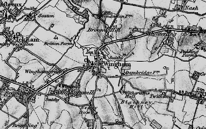 Old map of Witherdens Hall in 1895