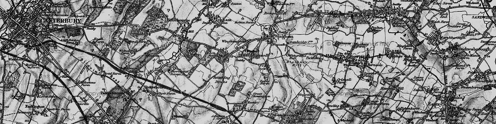 Old map of Wingham Well in 1895