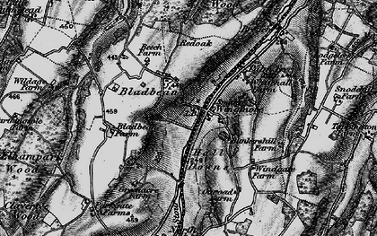 Old map of Wingmore in 1895