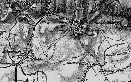 Old map of Wingrave in 1896