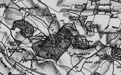 Old map of Wink, The in 1899