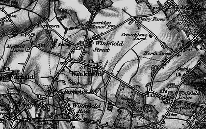 Old map of Winkfield in 1895