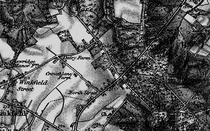 Old map of Winkfield Place in 1896