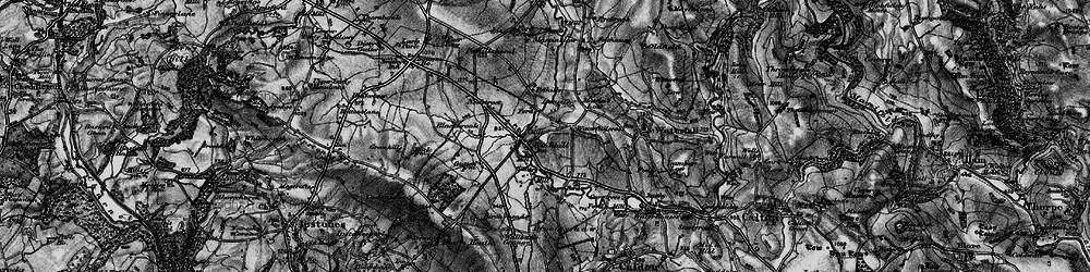 Old map of Winkhill in 1897