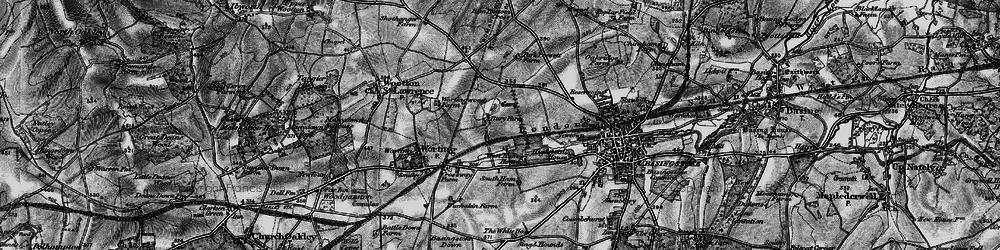 Old map of Winklebury in 1895
