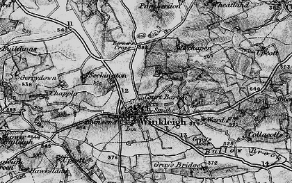 Old map of Winkleigh Wood in 1898