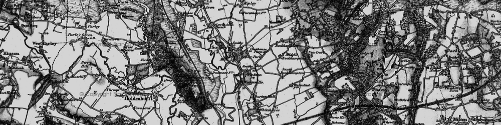 Old map of Winkton in 1895
