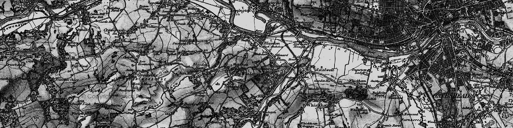 Old map of Winlaton in 1898