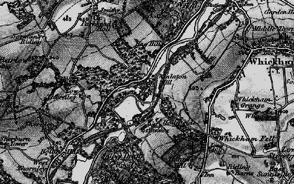 Old map of Winlaton Mill in 1898