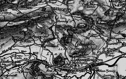 Old map of Winllan Hill in 1897