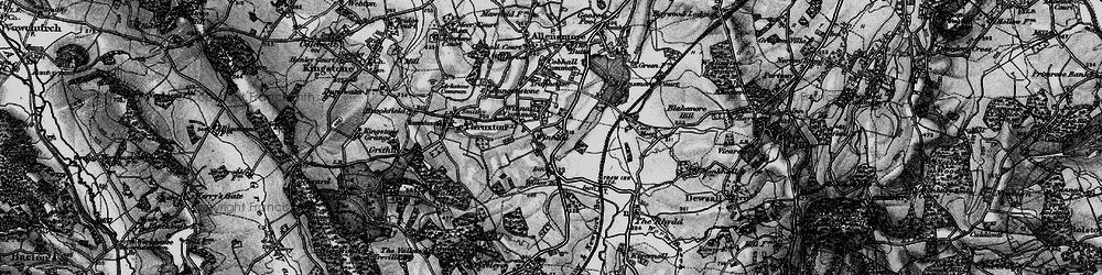 Old map of Winnal in 1898