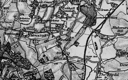 Old map of Winnal Common in 1898