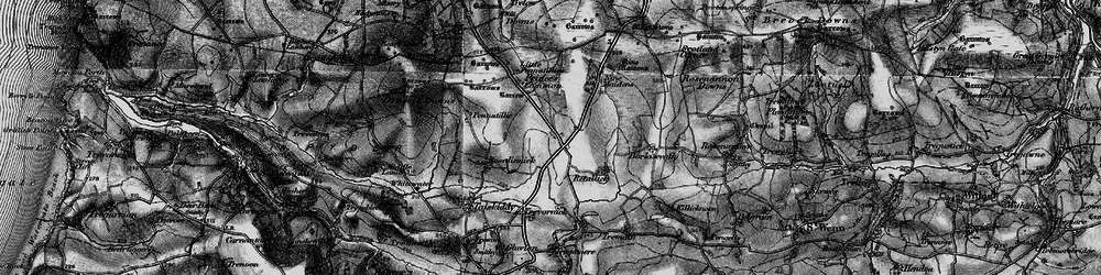 Old map of Winnard's Perch in 1895