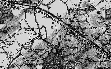 Old map of Winnersh in 1895