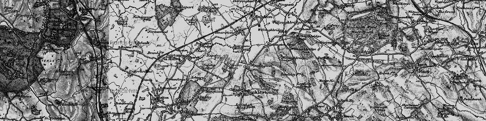 Old map of Winnington in 1897
