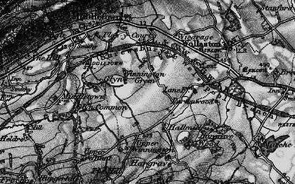 Old map of Winnington Green in 1899