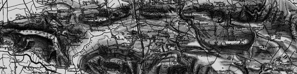 Old map of Winscombe in 1898