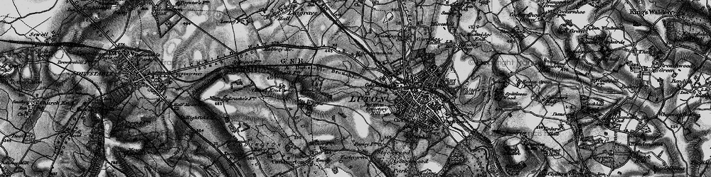 Old map of Winsdon Hill in 1896