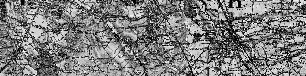 Old map of Winsford in 1896