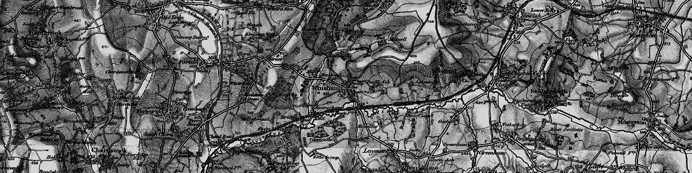 Old map of Winsham in 1898