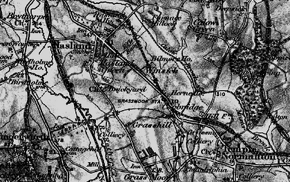 Old map of Winsick in 1896