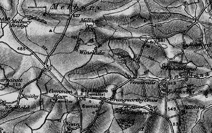 Old map of Wrangworthy Cross in 1895
