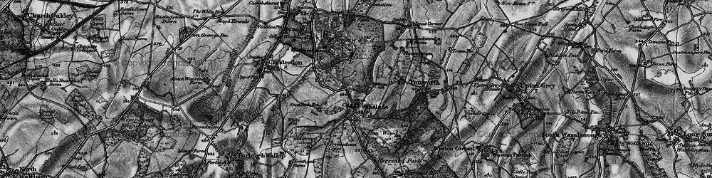 Old map of Allwood Copse in 1895
