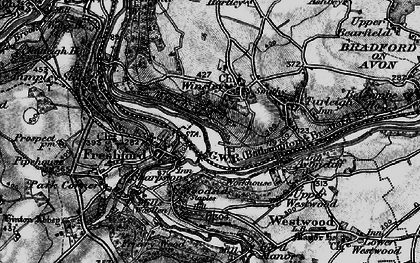 Old map of Winsley in 1898
