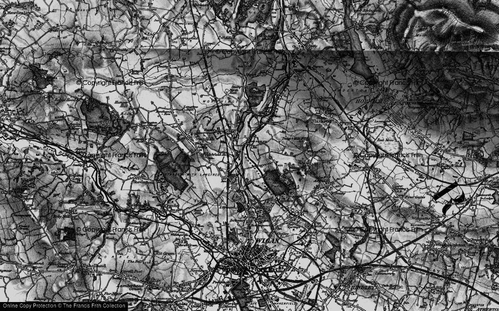 Old Map of Winstanleys, 1896 in 1896
