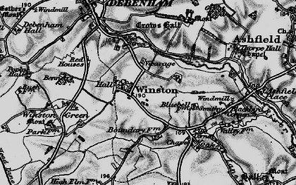 Old map of Winston Grange in 1898