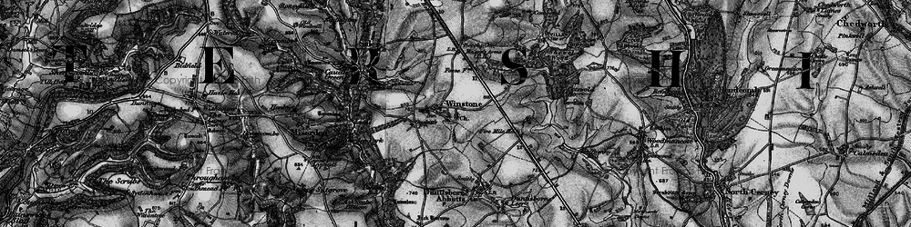 Old map of Winstone in 1896