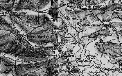Old map of Winswell Moor in 1895
