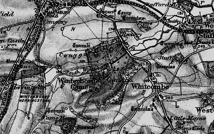 Old map of Winterborne Came in 1897