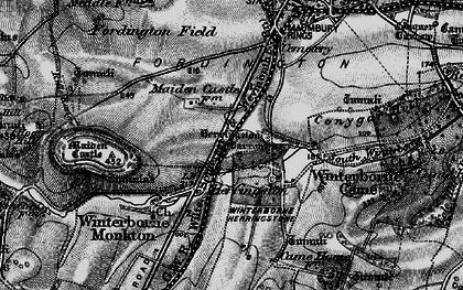Old map of Winterborne Herringston in 1897