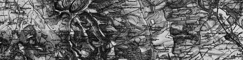 Old map of Winterborne Houghton in 1898
