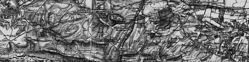 Old map of Winterborne Monkton in 1897